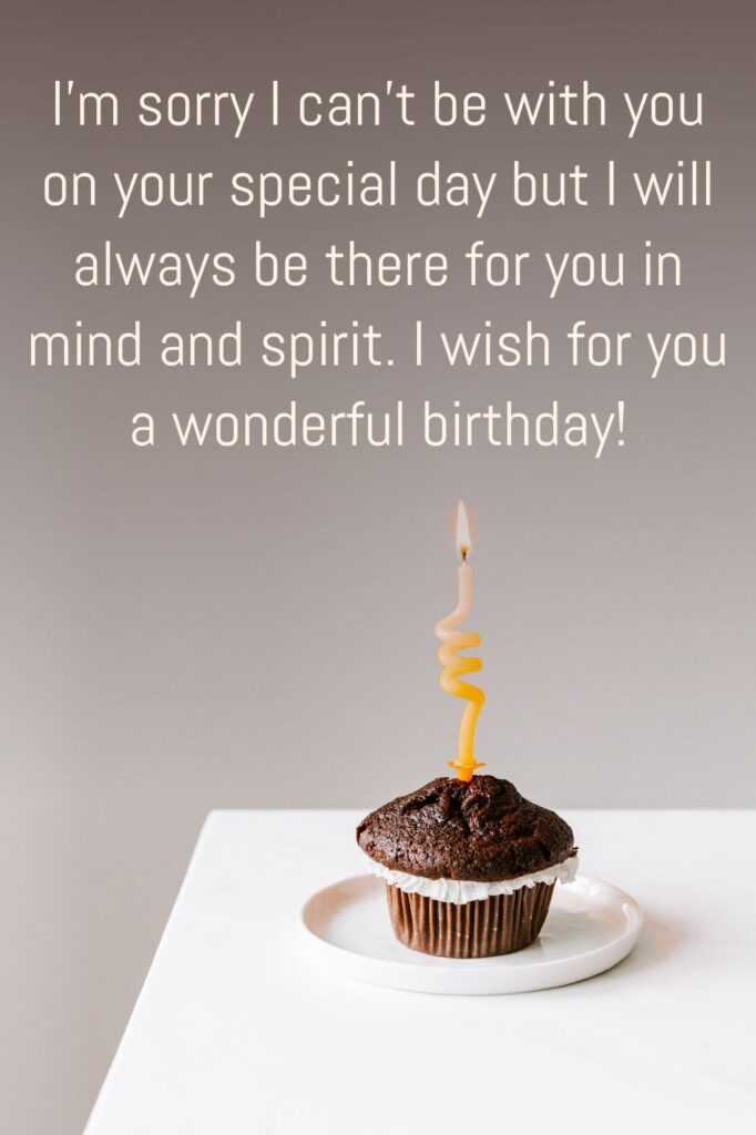 Birthday images with sorry quote