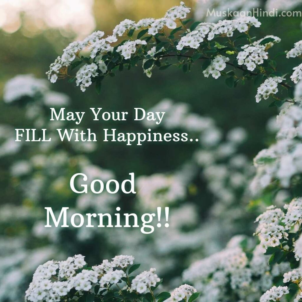 Best Good Morning wish with tiny flowers