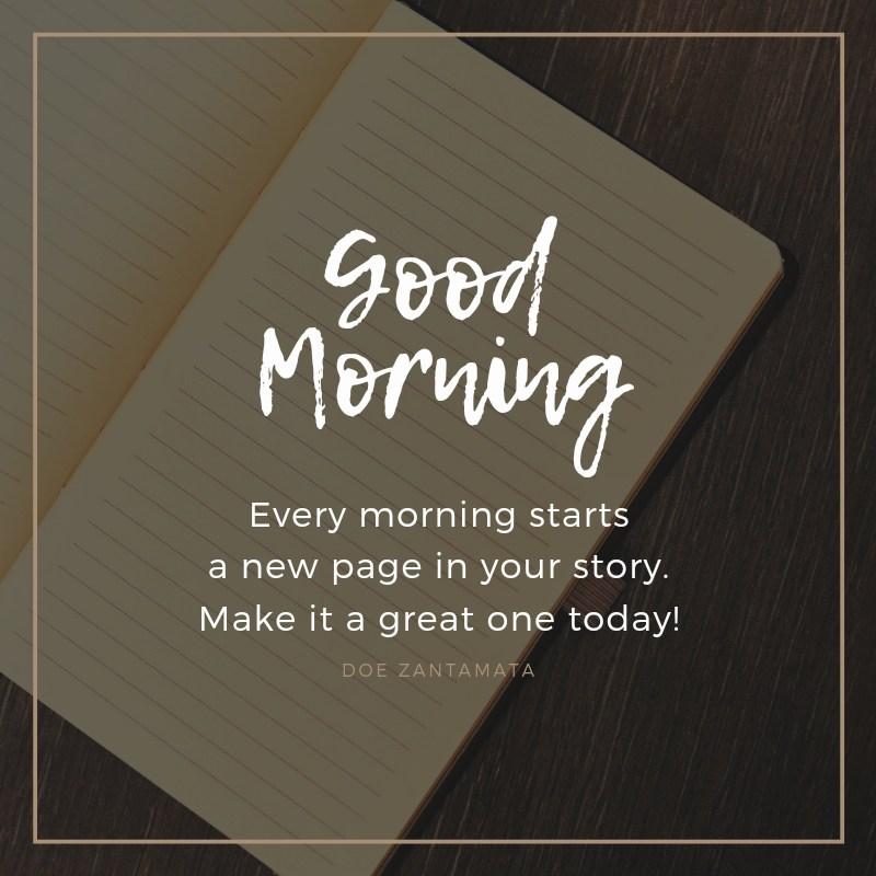 doe zantamata good morning quote
