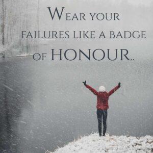 positive lines on failure famous success quote