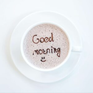Morning wish with Coffee a Fresh Cup